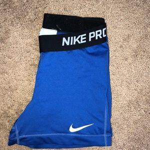 Blue Nike pros